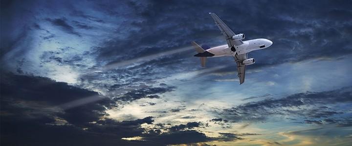 Aeroplane Dark Sky