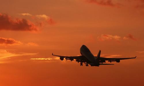 aircraft departing