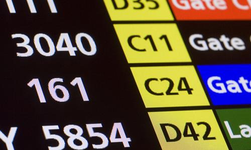 departure gates screen