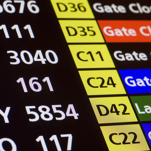 departure gates screen