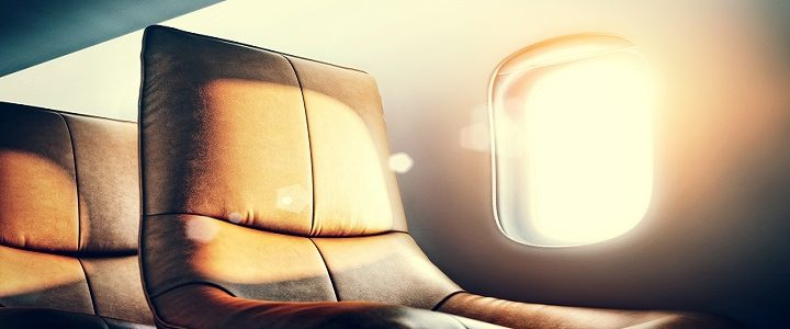 executive jet seat with lens flare